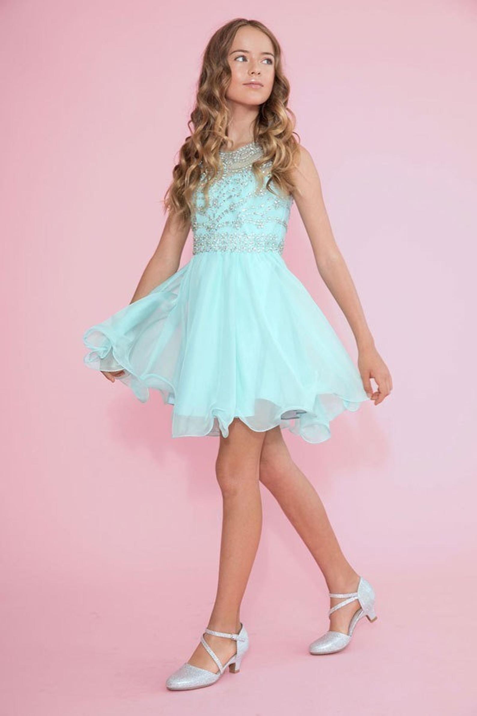 Girl S Prom Or Bridesmaid Dress Vestidos Para Damas De 15 Etsy Girls Short Dresses Girls Formal Dresses Mitzvah Dresses [ 2382 x 1588 Pixel ]