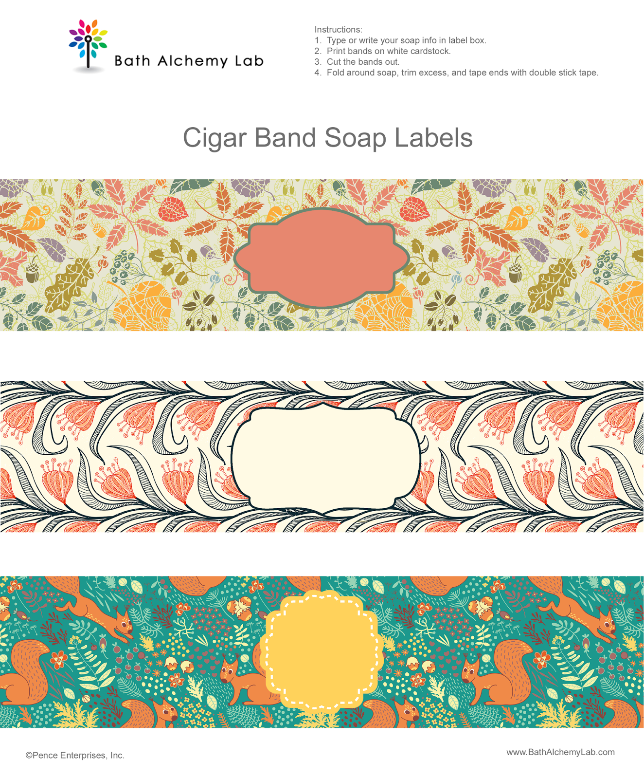 Free Soap Cigar Band Soap Wrappers Printables Soap