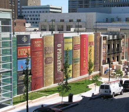 High Quality Kansasu0027 City Public Library Giant Bookshelf In Kansas City, Missouri, USA.  The Central Library Parking Garage,  Awesome Design
