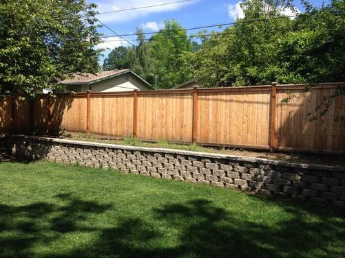 retaining wall with fence on top Outside Projects Pinterest