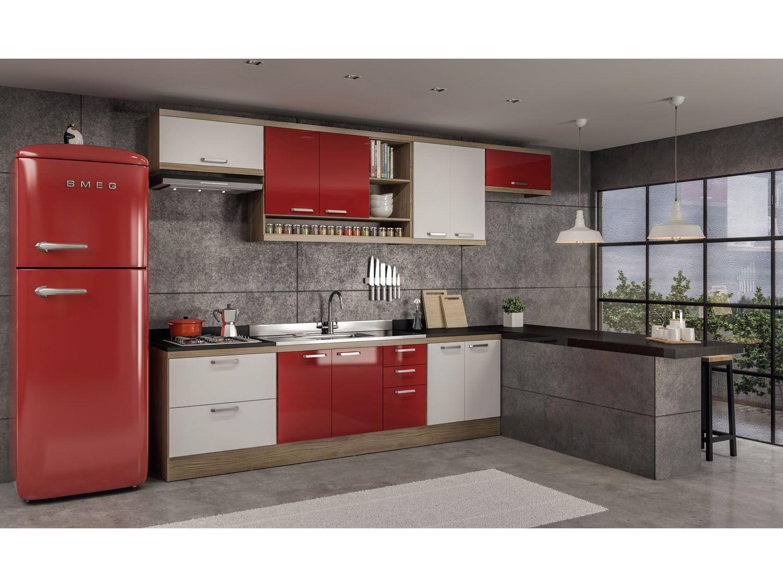 Cozinha Compacta Multim Veis Sic Lia Com Balc O 10 Portas 5