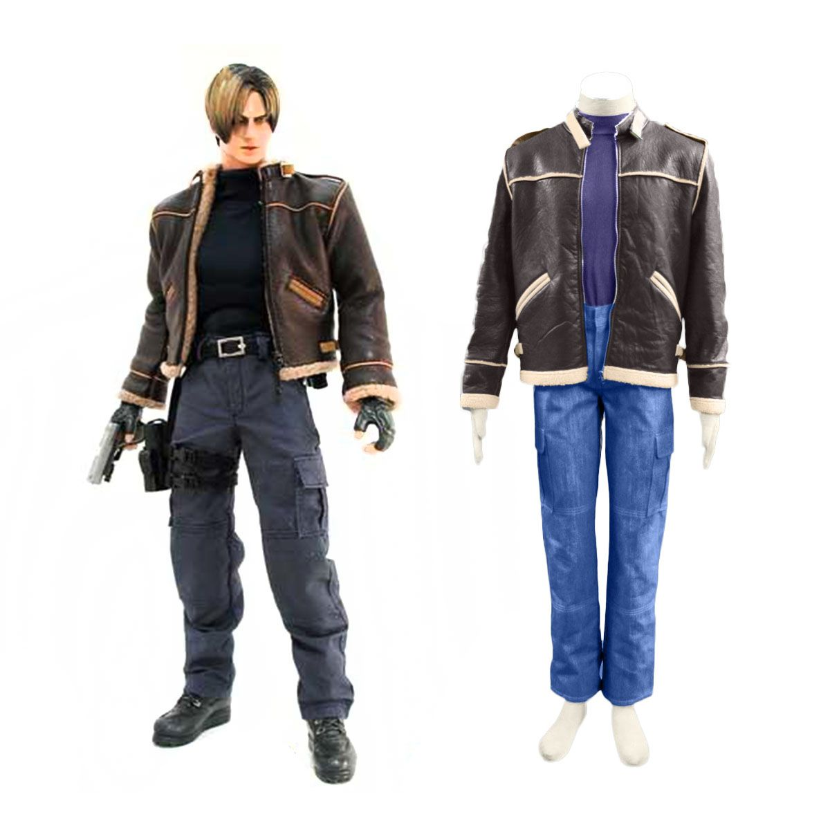 Resident Evil 4 Leon S Kennedy Cosplay Costume Deluxe