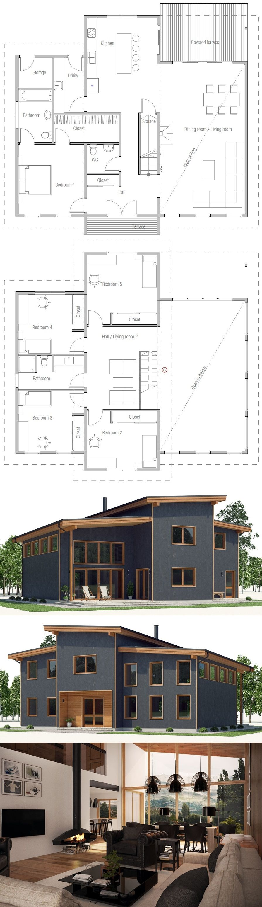 plan de maison high ranch