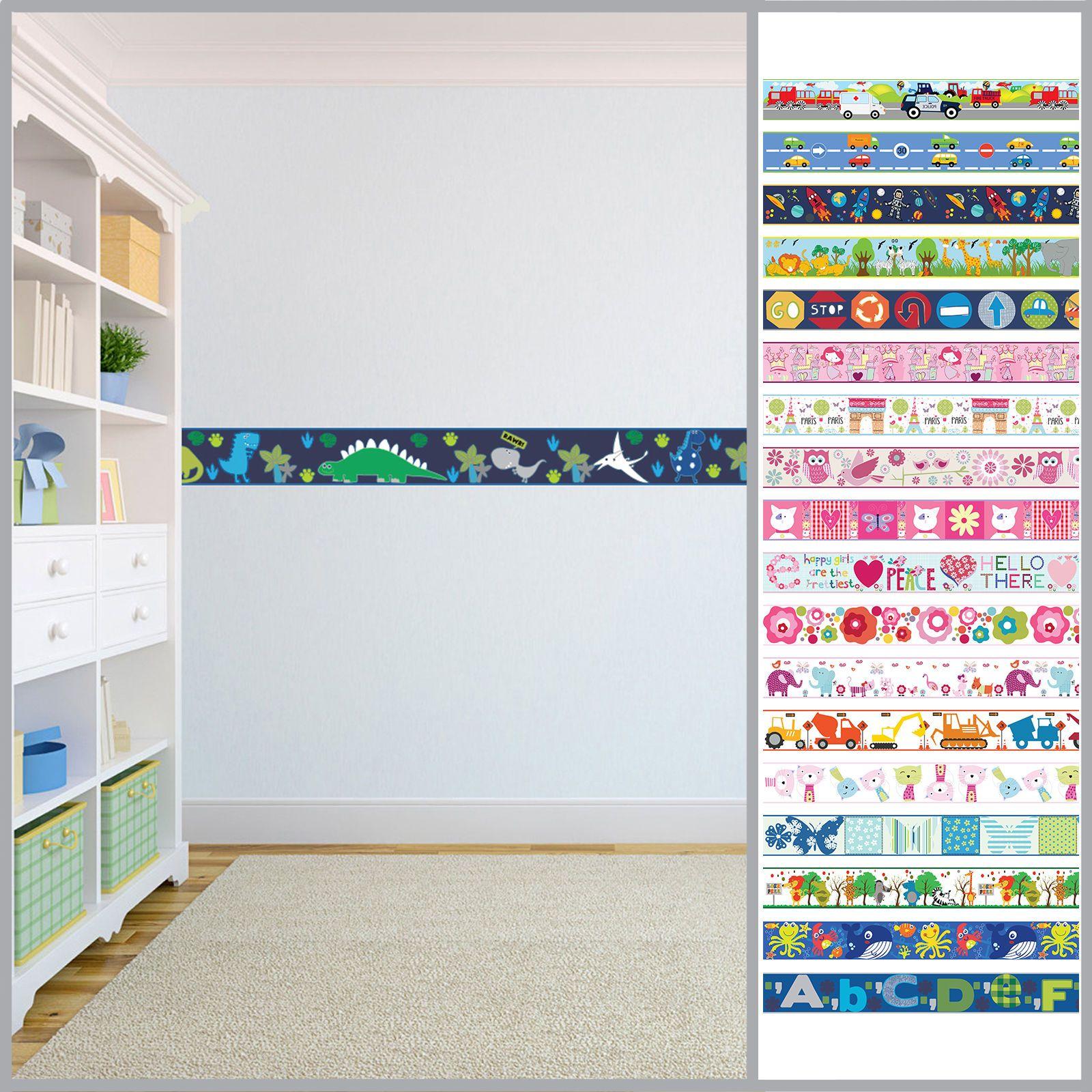 Wallpaper Borders Children S Kids Nursery Boys Girls Bedroom Wall