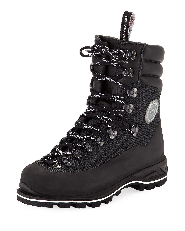 6033f9d56e15 Stefano Ricci Men s Leather Mountain Boots