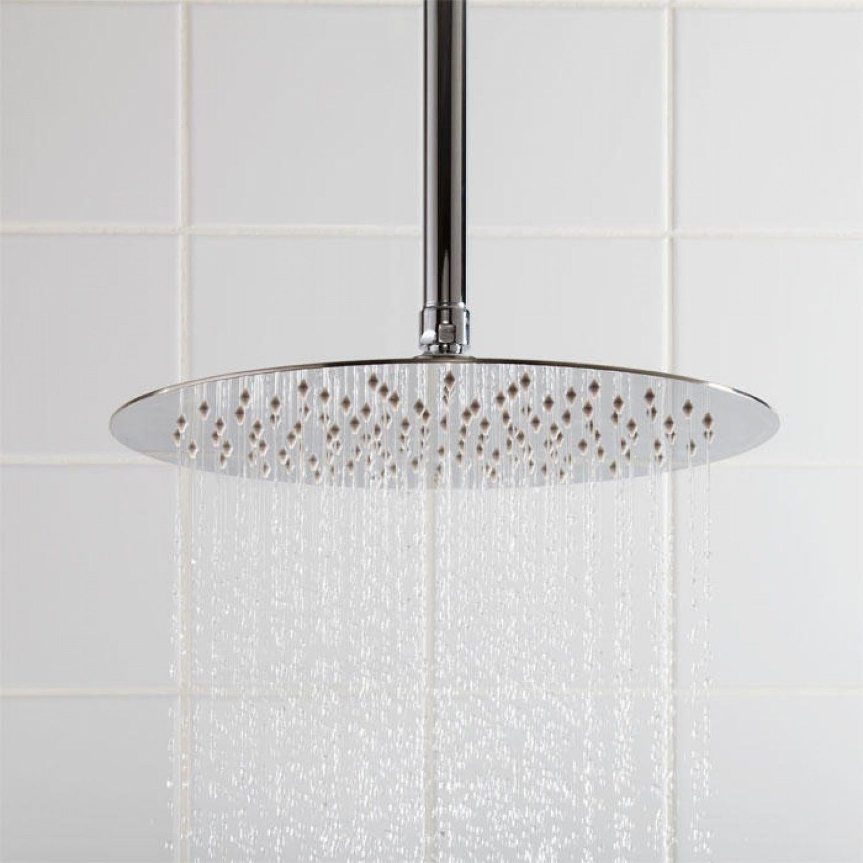 Beveled Round Rainfall Shower Head Shower Heads Bathroom Rainfall Shower Head Shower Heads Shower Fixtures
