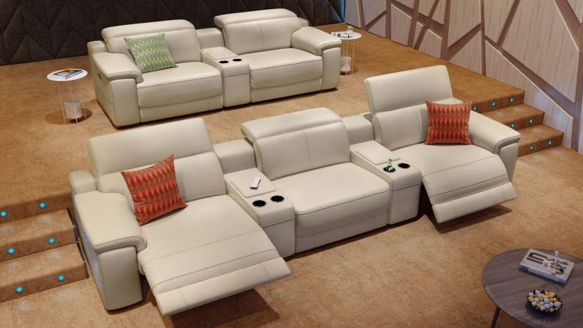 Das Perfekte Heimkino Sofa Das 2 Sitzer Ledersofa Sora Erinnert