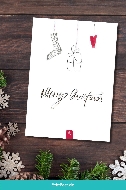 Merry Christmas Postkarte Fur Geschaftliche Weihnachtsgrusse Weihnachtskarten Weihnachtsgrusse Postkarten