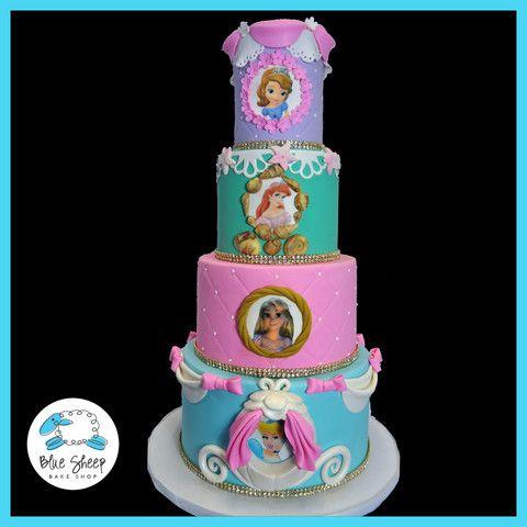 Disney Princess Cake Sofia The First Cinderella Rapunzel Tangled