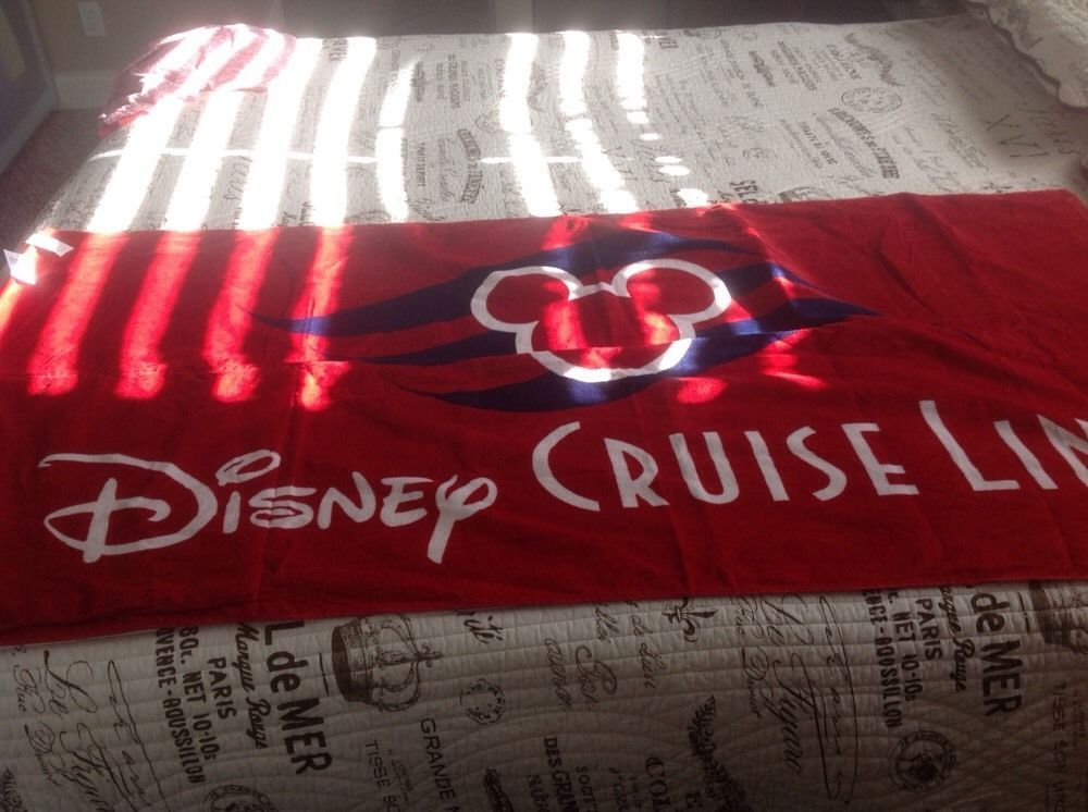 Disney Cruise Line Logo Beach Towel And Drawstring Bag All In One