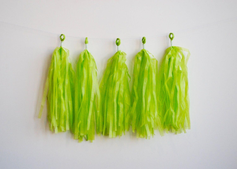 Lime Green Tissue Tassel Kit
