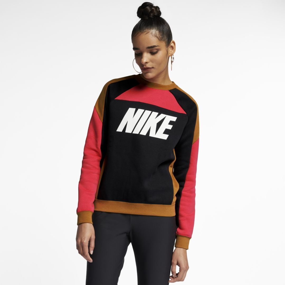 2ad70ebe Sportswear Women's Fleece Color-Block Crew in 2019 | Products | Nike ...