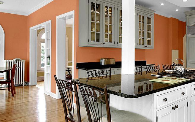 Glidden Paint Colors And Palettes We Ve Decided To Transform Our Kitchen  With Apricot Colored Walls