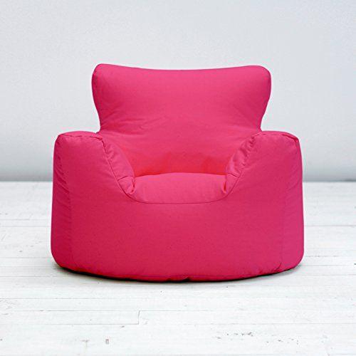 Bean Bag Warehouse Childrens Kids Fuchsia Pink Cotton Small Chair Seat Beanbag Filled No