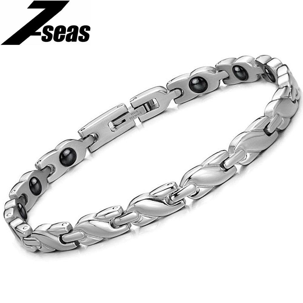 Vintage jewelry power energy balance magnetic women bracelet