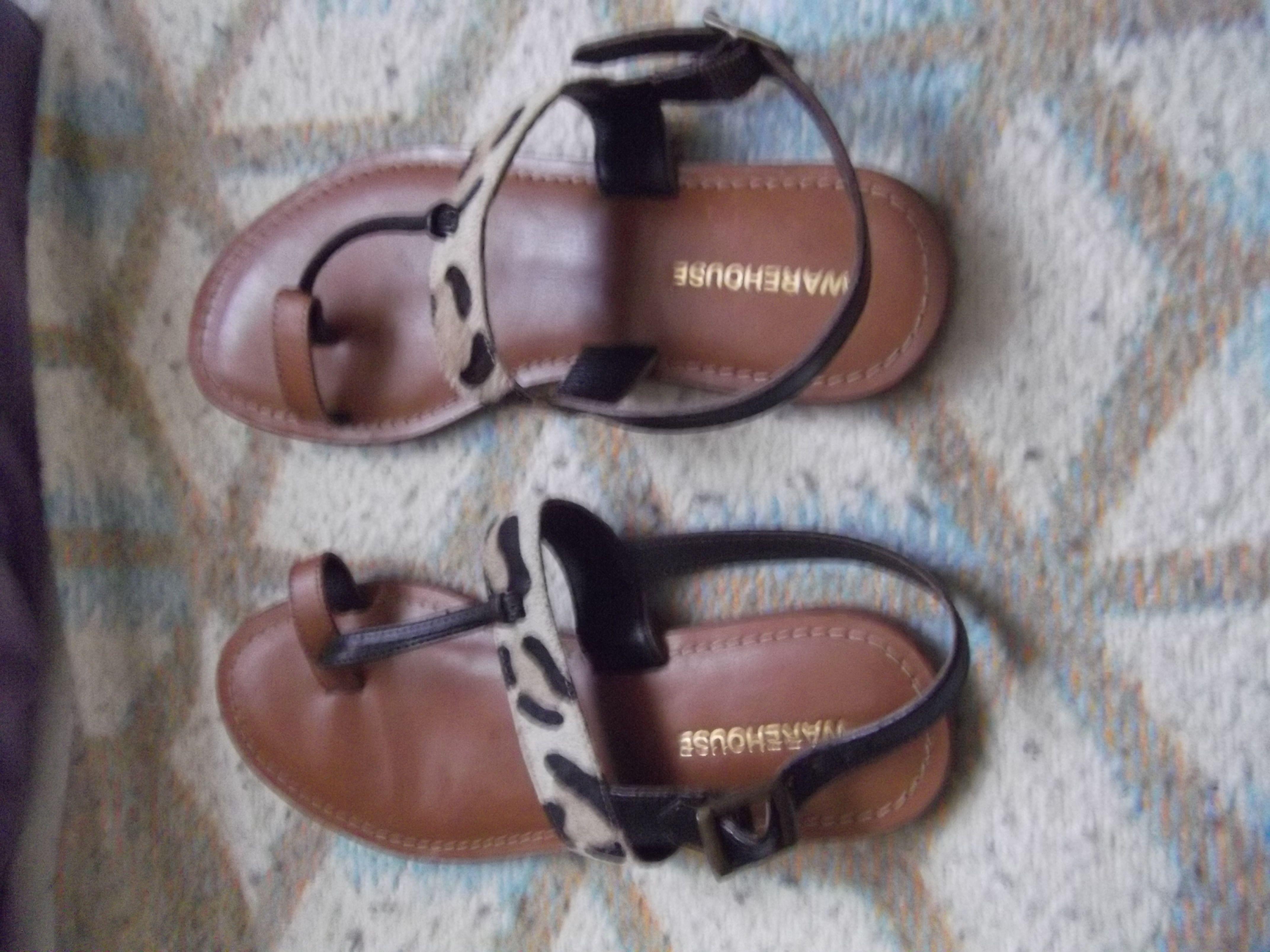 Warehouse - leopard print sandals