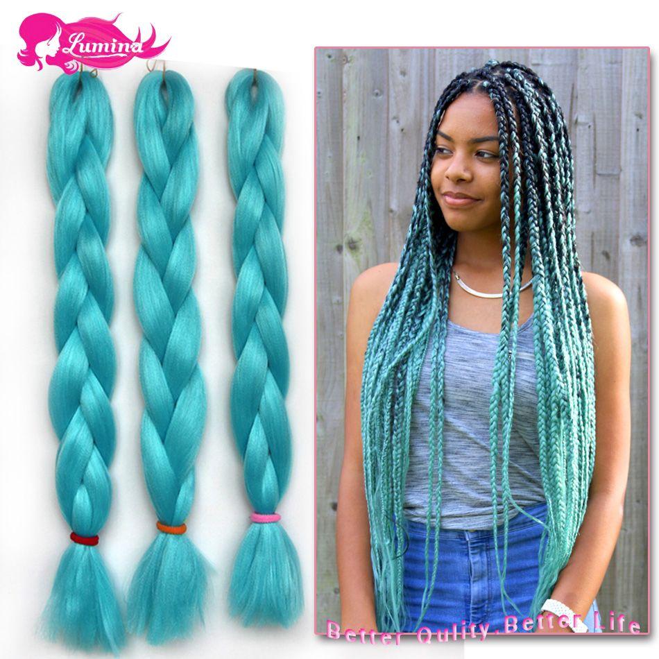 New Arrival Blue Kanekalon Braiding Hair 10pc Lot Crochet Extensions Braid 24 Inch