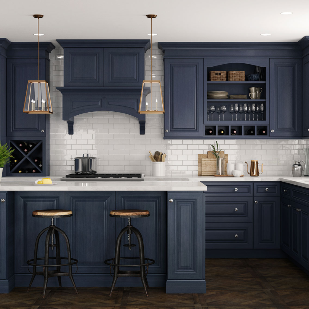 Cnc Cabinets Timeless Selection Choose Your Ideal Style In 2020 Blue Kitchen Cabinets Blue Kitchens Solid Wood Kitchen Cabinets