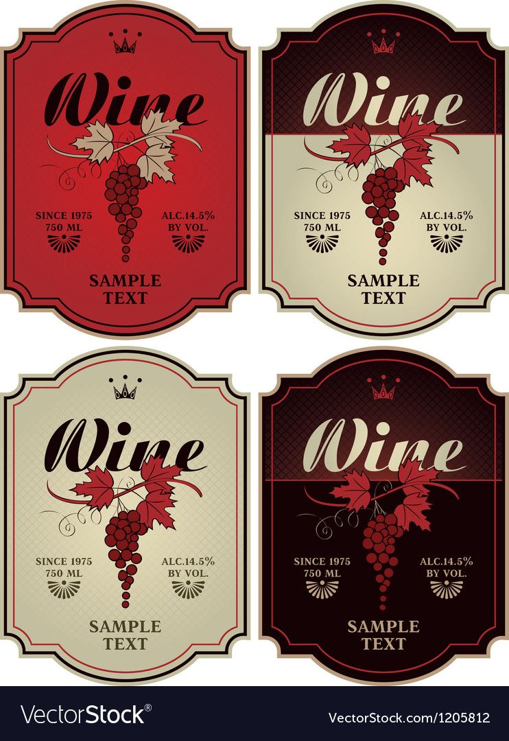 Labels For Wine Royalty Free Vector Image Vectorstock Affiliate Royalty Wine Labels F Vector Business Card Music Festival Poster Live Music Poster