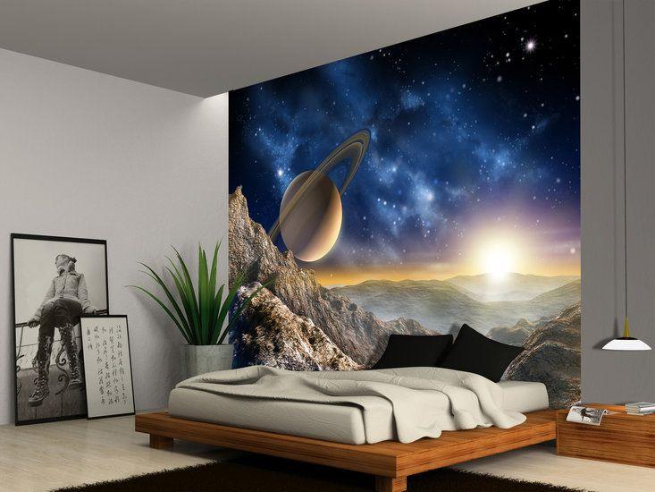Behang Kinderkamer Ruimtevaart : Ruimtevaart behang space xl mats nieuwe kamer