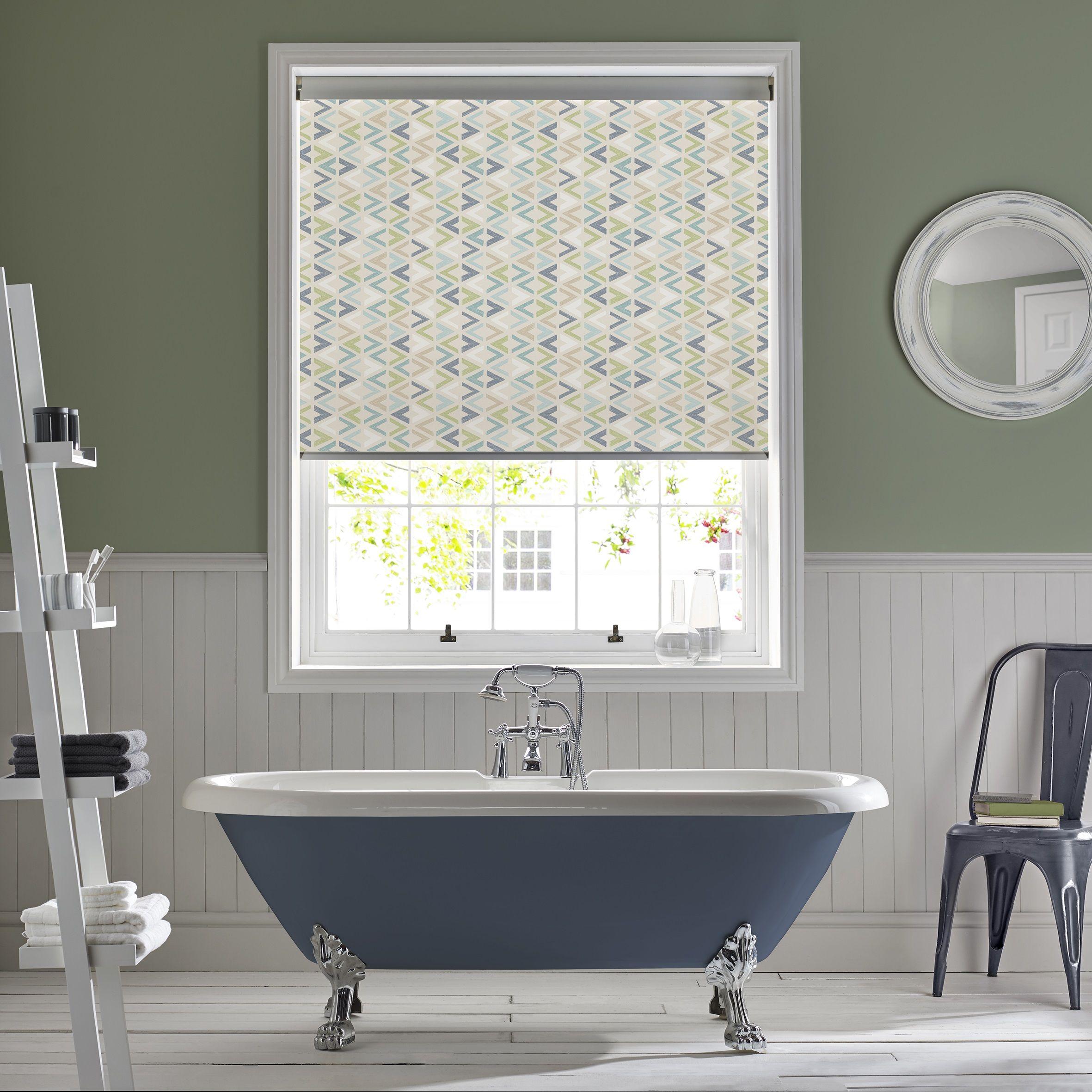 Azzura Aqua Bathroom Roller Blind By Style Studio. Contemporary Blue Colour  Inspiration For The Bathroom