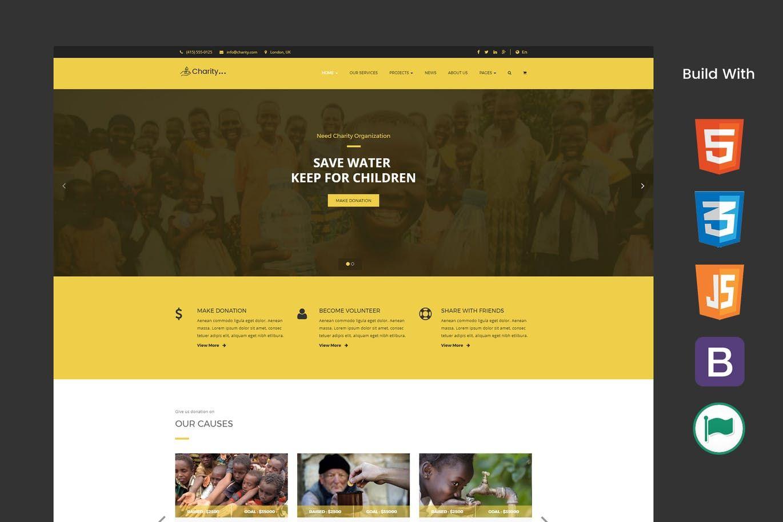 need nonprofit charity donation web template html html website
