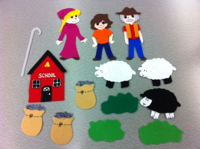 Library Village: Flannel Friday - Nursery Rhyme Sheep