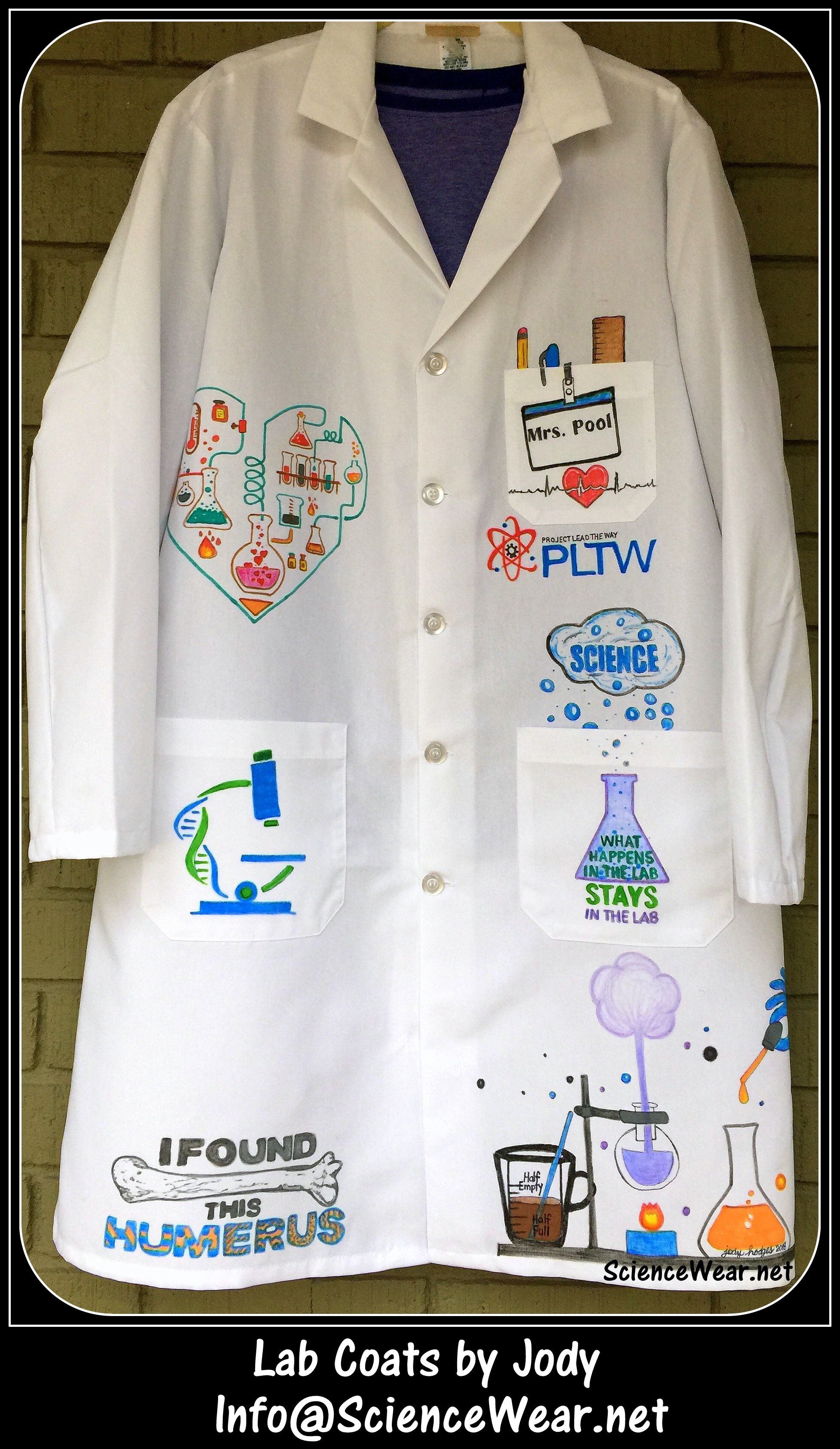 Personalized Illustrated Lab Coats By Jody Front