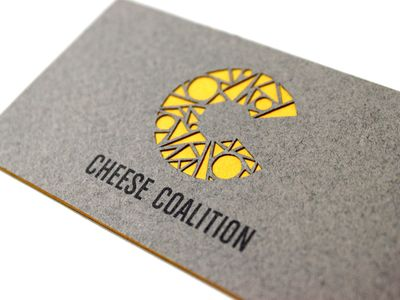Cheese Coalition Business Card Business Card Inspiration Visiting Card Design Business Card Logo