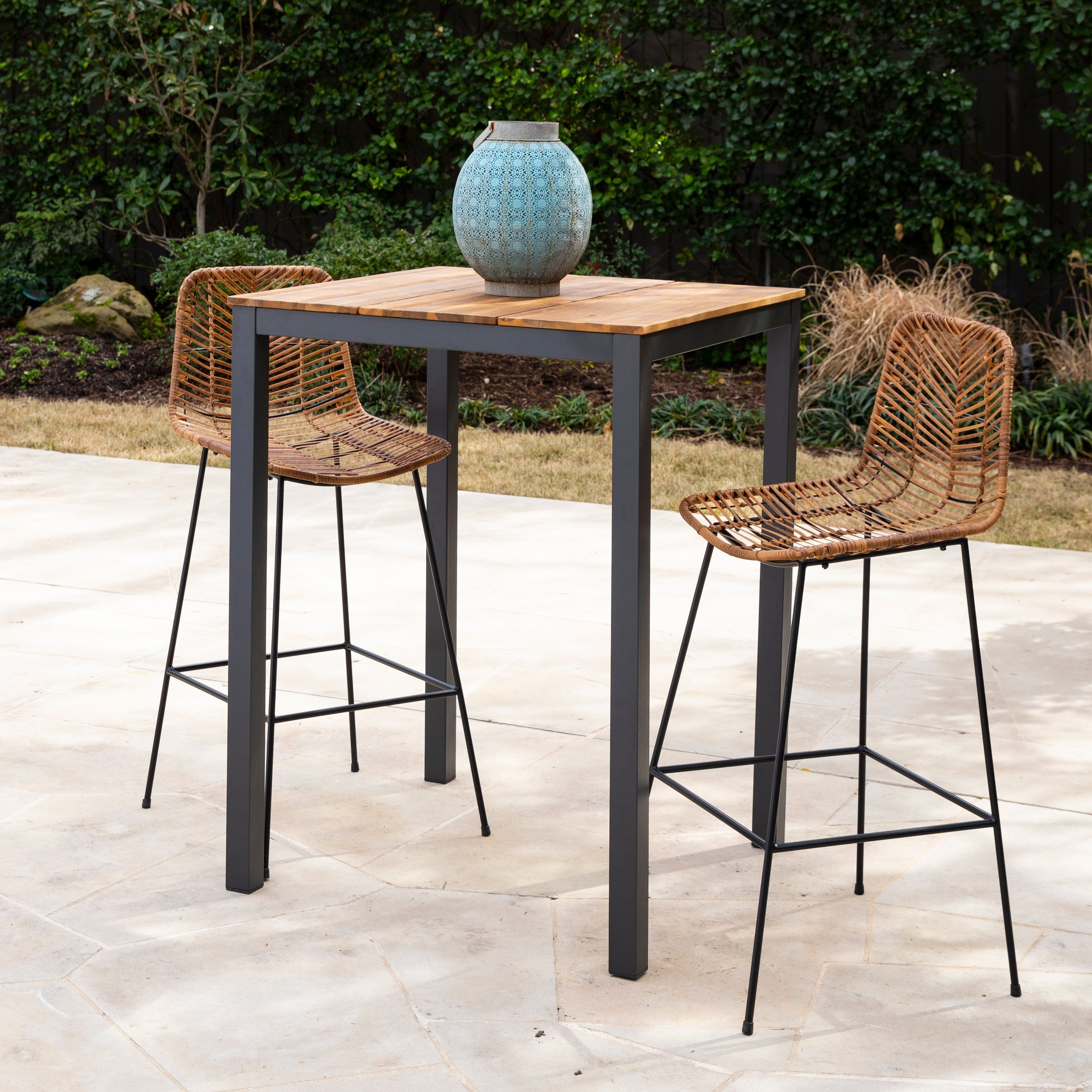 Havenside Home Benevidez Contemporary Gray Natural Wood Outdoor