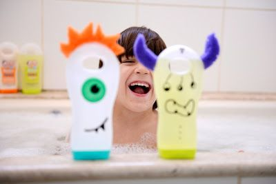Shampoo bottle monsters.     Gloucestershire Resource Centre http://www.grcltd.org/home-resource-centre/