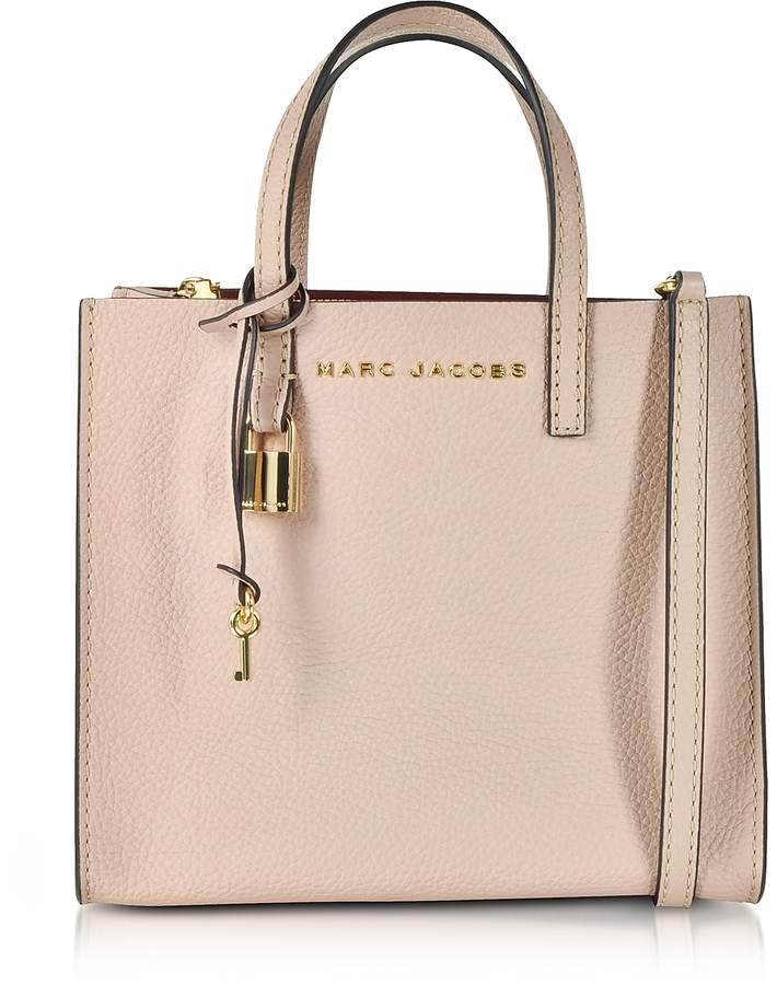 Marc Jacobs Rose Leather The Mini Grind Tote Bag   Tote bag, Rose ... eeb19f456f78