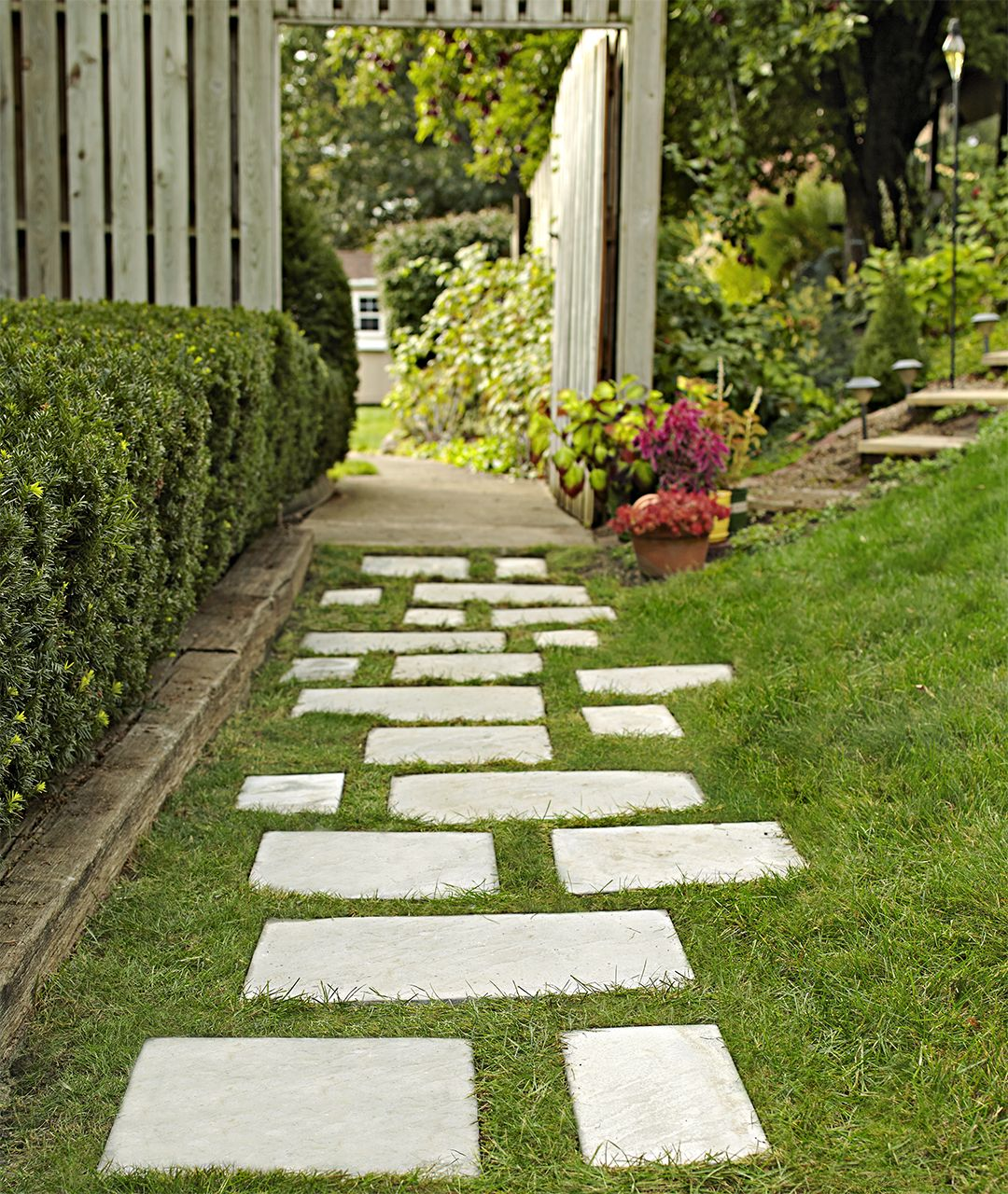 Save Your Yard From Run Off With A Paver Walkway Paver Walkway Walkway Landscaping Garden Walkway