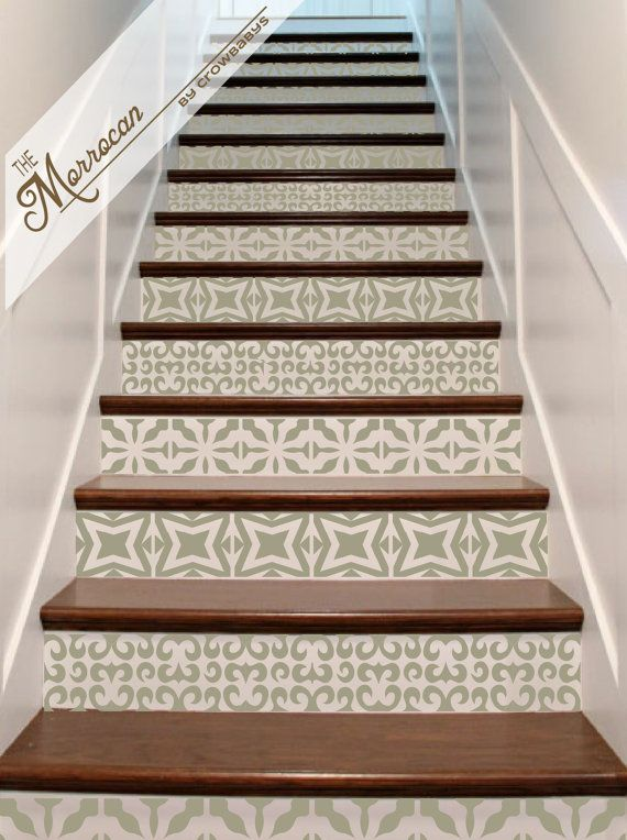 Vinyl Stair Decals Riser Tiles Staircase Decal By Crowbabys - Diy staircase designs