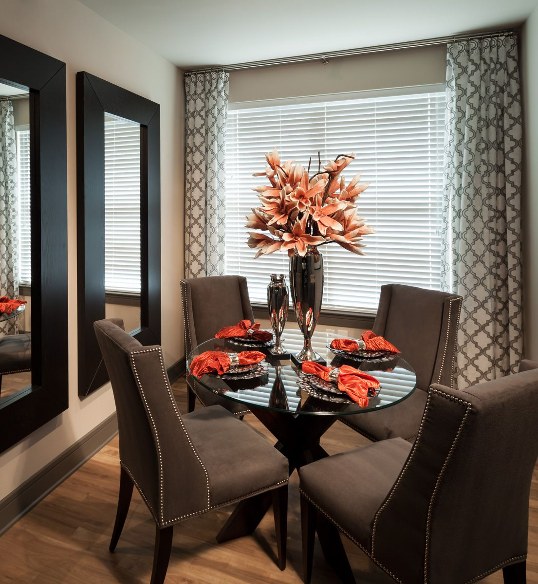 Elegant Tableware For Dining Rooms With Style: 2 Bedroom Model - Dining Room - 1,207 Sq Ft.