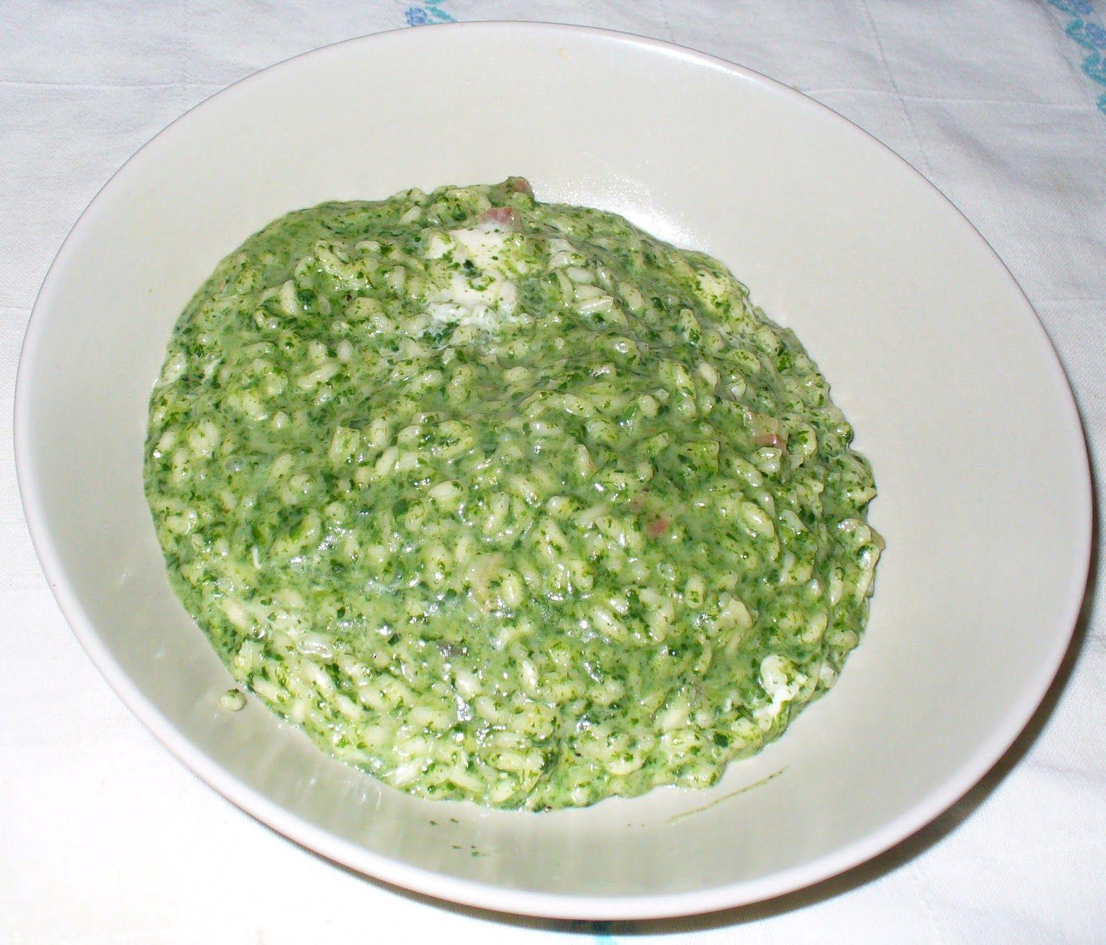 Cucinare la mia passione risotto spinaci crescenza for Cucinare spinaci