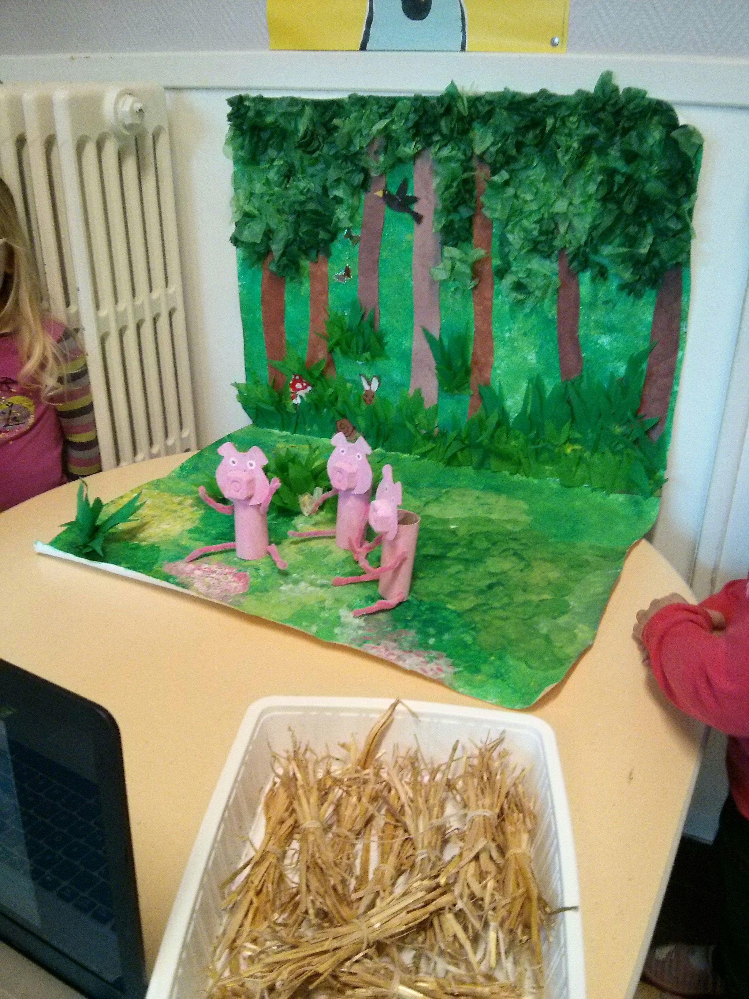 Les Trois Petit Cochons Art Visuel : trois, petit, cochons, visuel, Trois, Petits, Cochons, Biggetjes,, Sprookjes