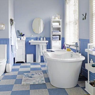 Salle #de #bain #bleu #deco | SALLE DE BAIN BLEUE | Pinterest | La ...