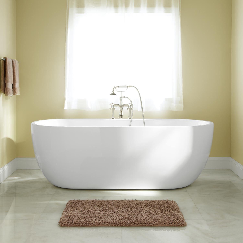 56 Boyce Acrylic Tub In 7 Rim Holes Signature Hardware Acrylic Tub Soaker Tub Bathroom
