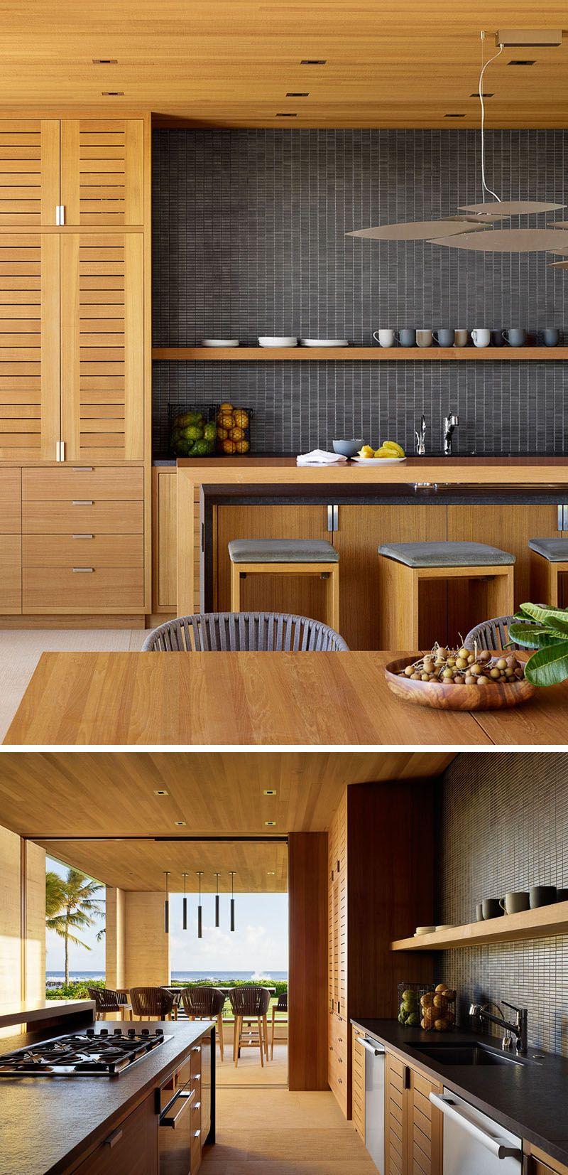 This New Home In Hawaii Was Designed To Enjoy Indoor Outdoor Beachfront Living Outdoor Kitchen Design Modern Kitchen Kitchen Countertops
