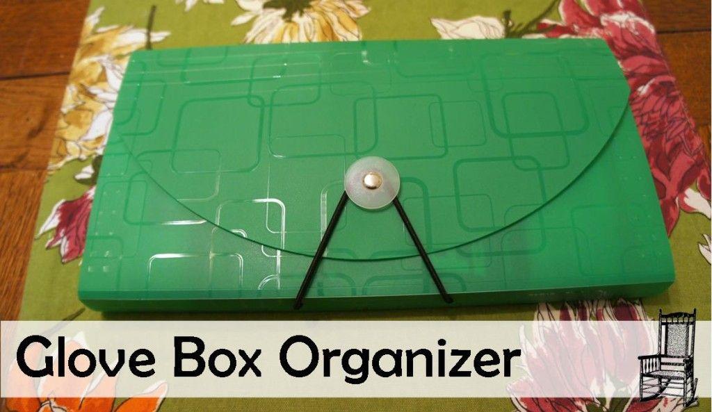 DIY Glove Box Organizer - thefrontpoarch.com