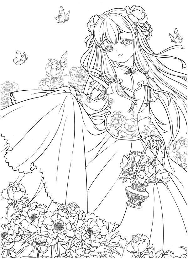 Download tatacat Flower Fairy Dress Coloring Book PDF