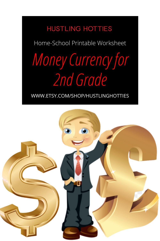 Money Currency For 2nd Grade Printable Exercise Worksheet 2nd Grade Worksheets Homeschool Activities 2nd Grade [ 1500 x 1000 Pixel ]