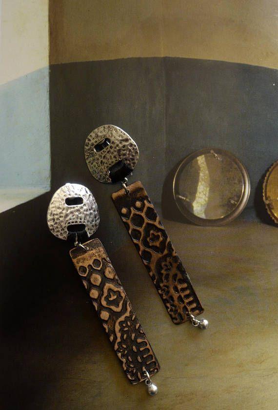 Boucles d'oreilles tribales cuivre clips boucles