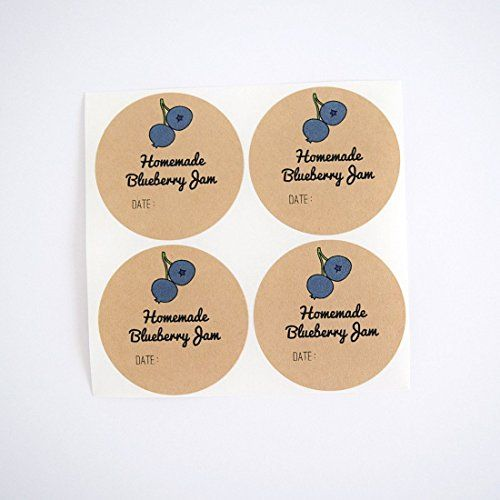 Homemade Blueberry Jam Labels for Mason Jars by Once Upon Supplies, Blueberry Jam Canning Labels, Canning Supplies, 2.5