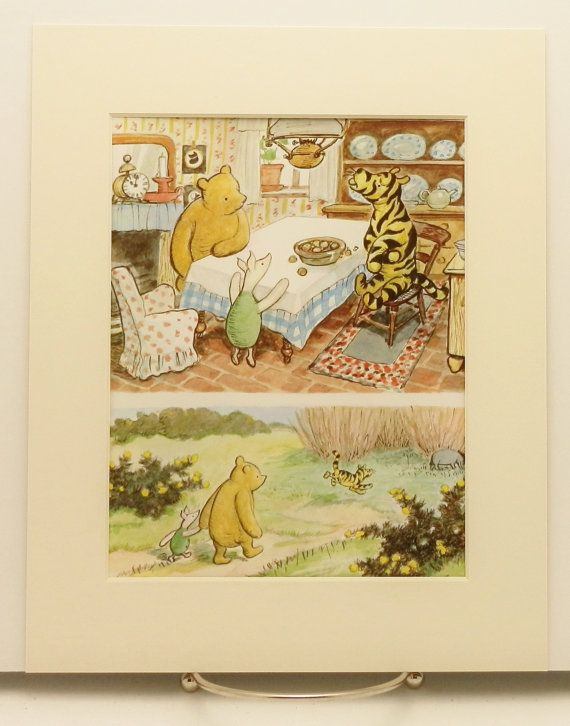 Winnie the Pooh Decor Baby Nursery Kids Wall Art by SkitterCats ...