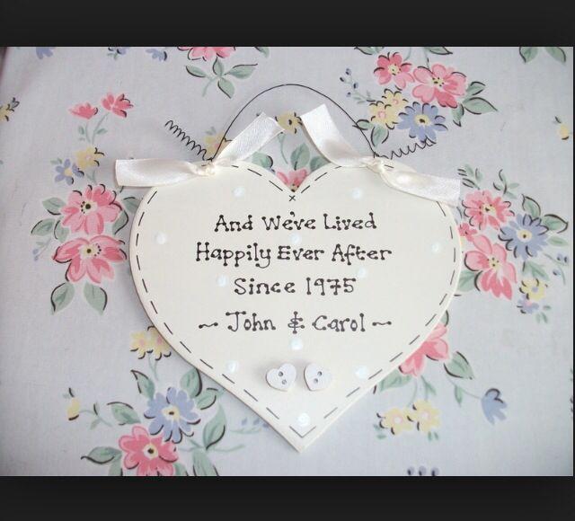 Customised hanging heart dotty writing marriage engagement gift keepsake