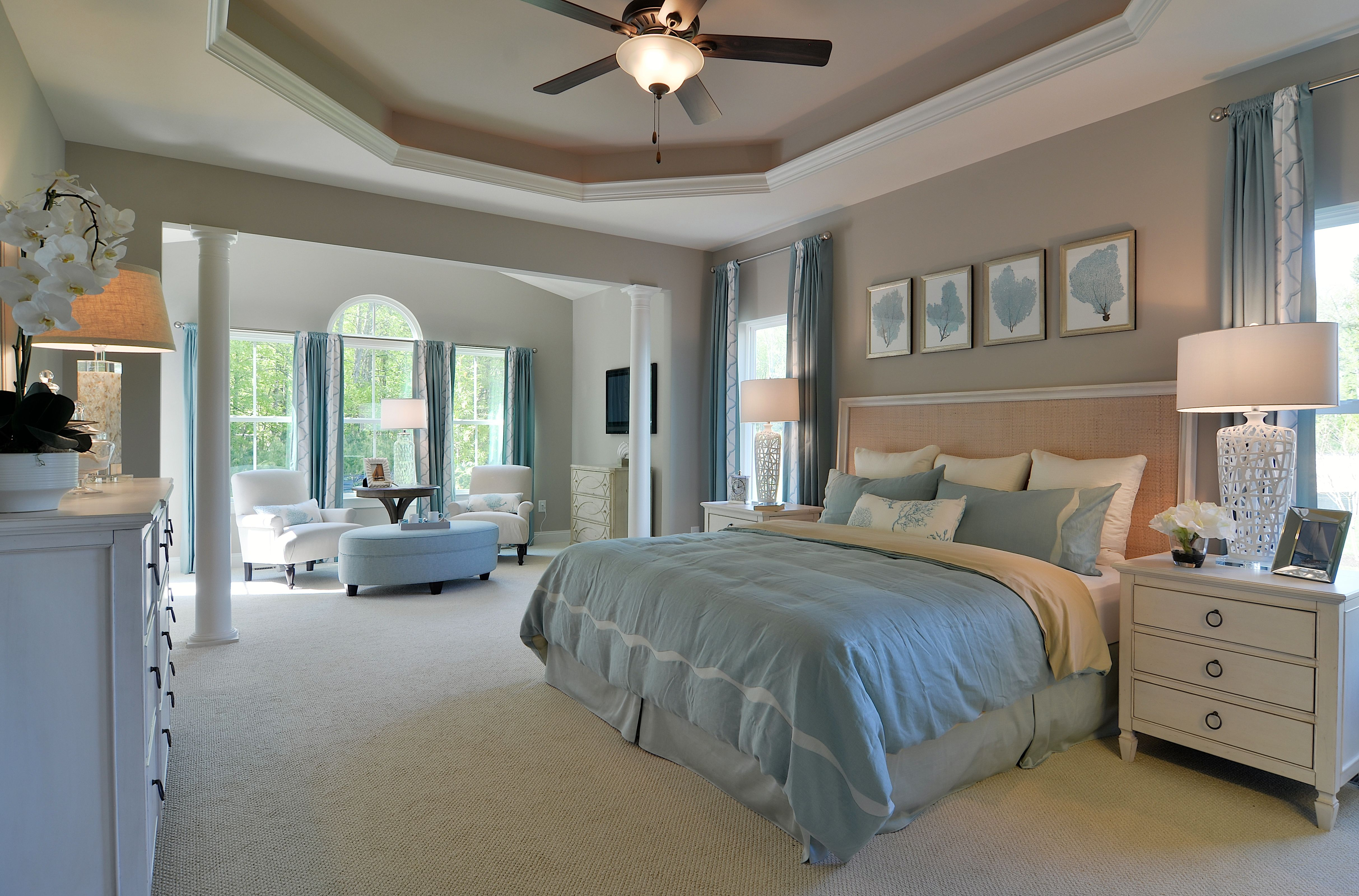 Spacious And Airy Master Bedroom With Tray Ceiling 2014 Copyright
