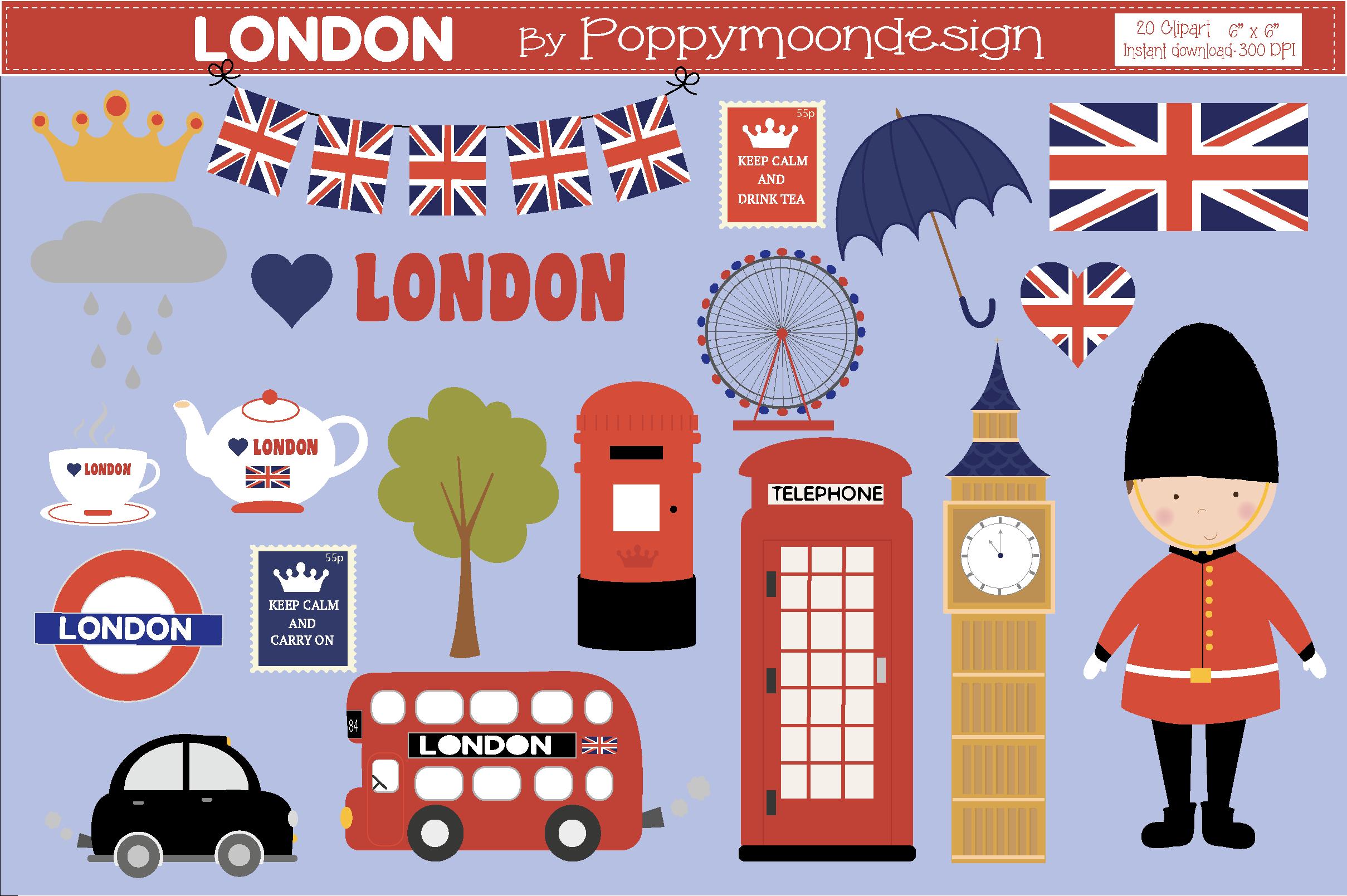 London (Graphic) by poppymoondesign Clip art, London
