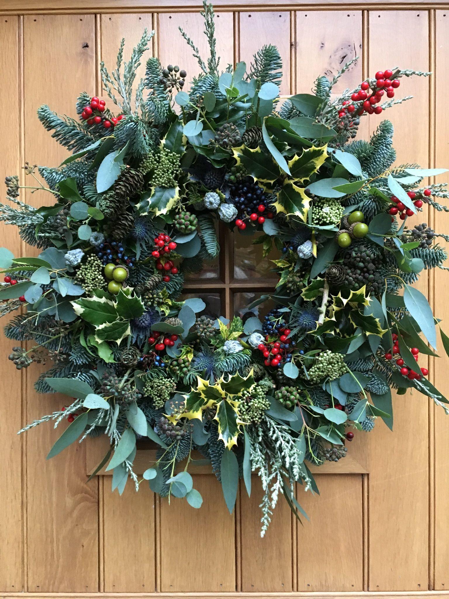 Photo of Mixed greenery wreath